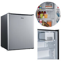 Mini Fridge Single Door Reversible Refrigerator 2 7 Cu Ft Stainless Steel Dorm