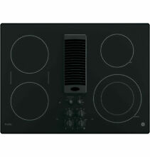 GE Profile Series 30  Downdraft Electric Cooktop   Black