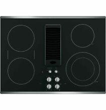 GE Profile Series 30  Downdraft Electric Cooktop   Stainless Steel
