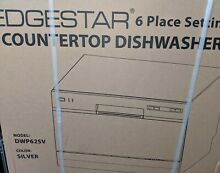 Edgestar 6 Place Setting Countertop Dishwasher Silver DWP62SV Travel Small Mini