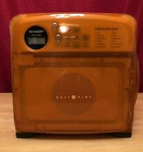 Extremely Rare  ORANGE Sharp Carousel Half Pint Compact Microwave Oven R 120DR