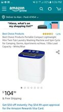 Best Choice Products Portable Compact Lightweight Mini Twin Tub Laundry Washing