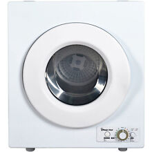 ELECTRIC DRYER Compact 2 6 cu ft in Washers Dryers Round Door Left Swing White