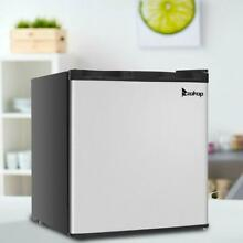 Mini Fridge Small Cabinet Freezer Stainless Steel Design Frozen Sliver