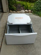 LG WDP4W 27  X 14  WHITE PEDESTAL W  DRAWER FOR LG 27  FRONT LOAD WASHER   DRYER