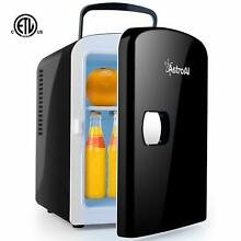 AstroAI Mini Fridge Portable AC DC Power System Cooler and Warmer 4 Liter 6 Can