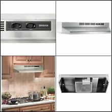 Stainless Steel 30 In  Non Vented Ductless Under Cabinet Exhaust Fan Range Hood
