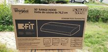 NEW  30  Whirlpool Non Vented Range Hood  Black