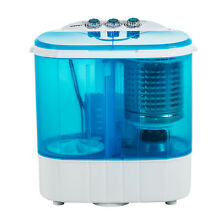 10 LBS Compact Twin Tub Washer Spinning Portable Mini Wash Machine