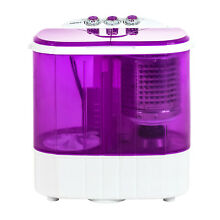 10 LBS Compact Twin Tub Washer Portable Mini Wash Machine Spinning Dryer Purple