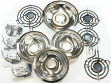Stove Restoration Kit  Surface Elements  Receptacles  and Drip Pans  3 6
