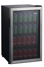 110 Can Beverage Center Cooler GLB36S Stainless Steel Frame Single Glass Door