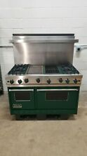 Green Viking 48  Range Stove Gas 4 Burners   Griddle   Grill Stainless Steel