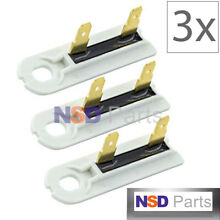 3 pcs 3392519 Dryer Blower Thermal Fuse fit Whirlpool Kenmore Maytag PS11741460