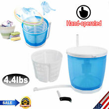 4 4lbs Portable Washing Machine Mini Compact 1 Tub Laundry Washer Spin Dry