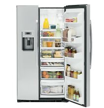 GE Profile  Series 21 9 Cu  Ft  Counter Depth Side By Side Refrigerator