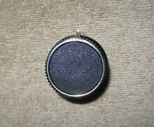 CLEAN  328709 Black and Silver Whirlpool Range Oven Thermostat Knob Part Vintage
