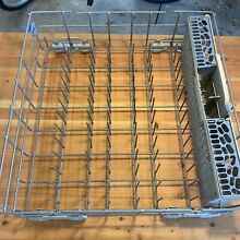 CLEAN WHIRLPOOL DISHWASHER LOWER RACK W10311986 WITH SILVERWARE BASKET