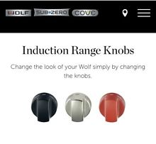 WOLF INDUCTION RANGE KNOBS   RED  p n  826992