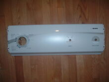 Kenmore 500 Dryer front top CONTROL PANEL Cover Part   W10209563  in White Used
