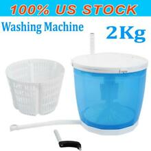 2 in 1 Portable Mini Travel Outdoor Washing Machine Compact Washer Spin Dryer