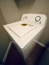 Amana electric top load washer and front load dryer