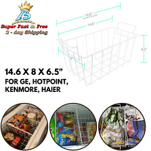Refrigerator Freezer Basket For Hotpoint Kenmore Haier GE Replacement 14 6 X 8