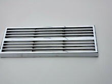 Jenn Air Chrome Vent Grate 14  x 5  for Downdraft Cooktop Vintage 1980s 1990s