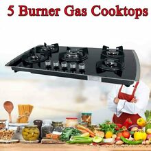5 Burners Built In Gas Cooktop NG LPG Tempered Glass Countertop Gas Stove 30Inch