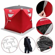 Sturdy 2 person Portable Pop up Ice Shelter Fishing Tent with Bag   Outdoor Rec