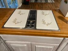 Jenn air downdraft stainless steel unit with grill  griddle and rotisserie