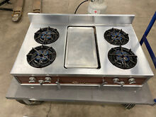 CHAMBERS GAS COOKTOP Stove with Broiler  Stainless Steel  Works great  LP Gas