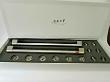 GE Caf  Double Gas Oven Range Stove Stainless Steel Handles Knobs Set