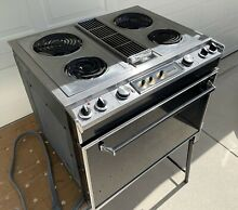 Jenn Air s125 Downdraft Range with Four Burners  Grill Unit Compatible  Working