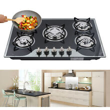5 burners Built In LPG NG Gas Stove Electric Automatic Pulse Ignition Home use