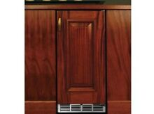 Perlick 15  Outdoor SS Wine Reserve w integrated wood overlay  HP15WO 3 2R