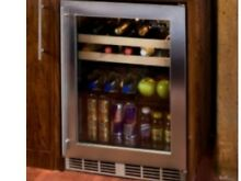 Perlick 24  Indoor Beverage Center Stainless Steel Glass Door  HP24BS 3 3R