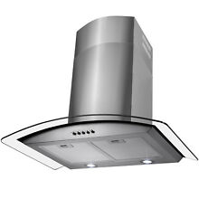 30  Wall Mount Stainless Steel Range Hood Vent  w Removable Filters