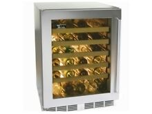 Perlick 24  Signature Series Indoor SS Glass Door Wine Reserve  HP24WS 3 3L
