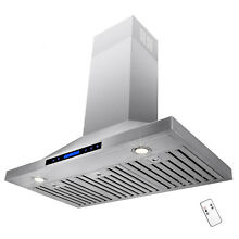 36  Wall Mount Stainless Steel Range Hood with Baffle Filter ventless