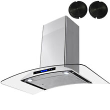 36  Wall Mount Stainless Steel Range Hood Ventless Ductless