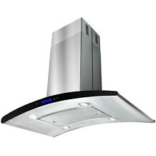 36  Euro Stainless Steel Island Mount Range Hood Powerful Kitchen Stove Vent