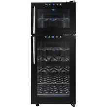 21 Bottle Wine Cooler Cellar Refrigerator Dual Zone Electric Freestanding Touch
