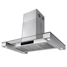 36  Stainless Steel Island Mount Kitchen Vent Range Hood Vent w  Touch Control