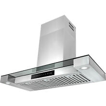 36  Wall Mount Stainless Steel Touch Screen Cooking Range Hood Vent LED Lights