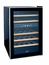 Sunpentown SPT Dual Zone Thermo Electric Wine Cooler w Wodden Shelves   WC 2463W