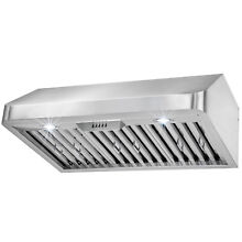 30  Kitchen Under Cabinet Stainless Steel Push Button Range Hood Cooking Vent