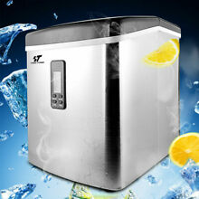 Stainless Steel Countertop Ice Maker Compact Cube IceMaker Machine 33lbs day