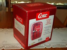 NEW Coca Cola Coke Mini Fridge Compact Refrigerator Office Dorm Retro RARE HTF