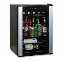 Mini Bar Refrigerator Glass Door Wine Beer Can Soda Cooler Drink Beverage Center